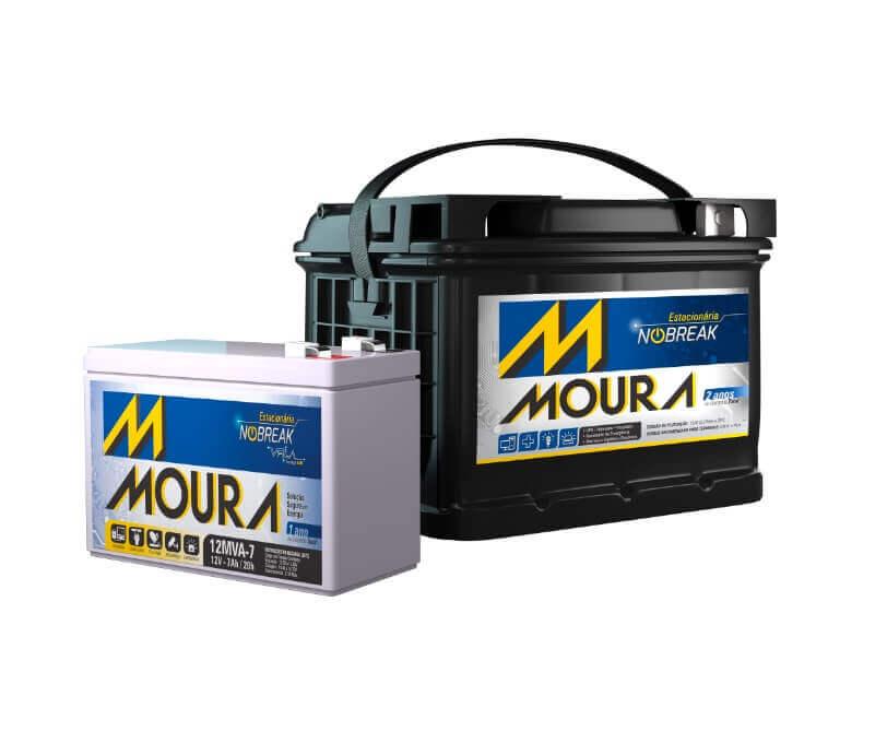 Especificações das baterias Nobreak Moura