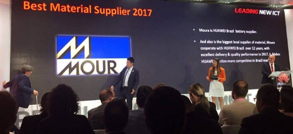 Moura é premiada como melhor fornecedor pela Huawei Brasil