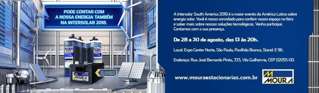 Baterias Moura participa da Intersolar 2018