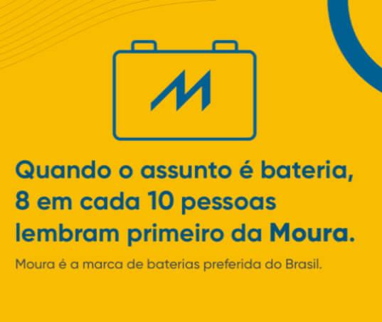 Moura, a marca de baterias mais lembrada no Mercosul